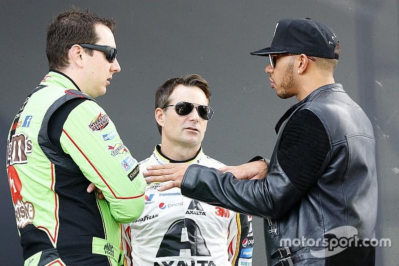 Хэмилтон посетил финал NASCAR