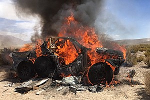 Dakar Breaking news Ten Brinke retires after car fire: