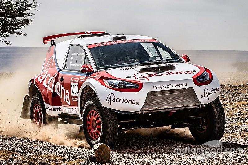 Un coche eléctrico está a una semana de terminar el Dakar