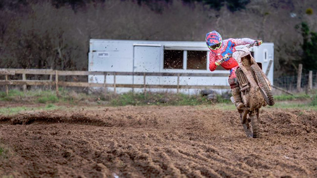 David Herbreteau con Honda Gariboldi in MX2