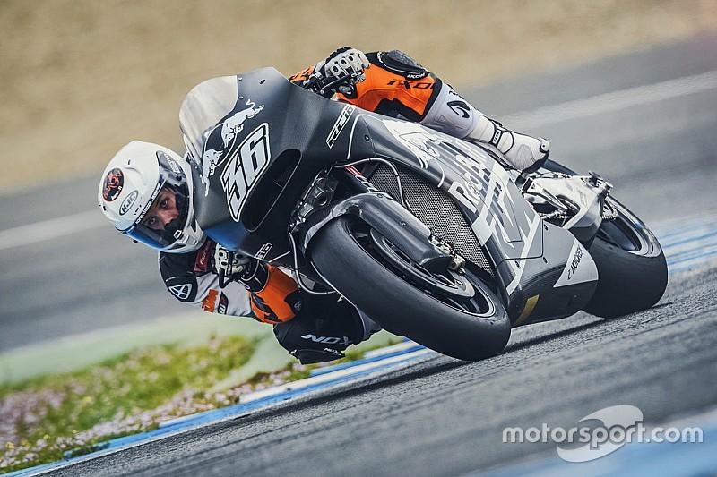 Primi giri sulla KTM RC16 per Randy De Puniet a Jerez