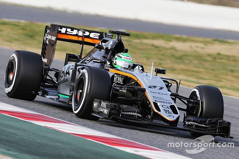 F1-test dag 3: Snelste tijd voor Hülkenberg, problemen bij Ferrari