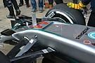 Mercedes test neus met S-duct op laatste testdag
