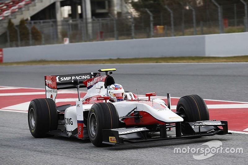 Sirotkin snelste tijdens GP2-testdag na natte middag