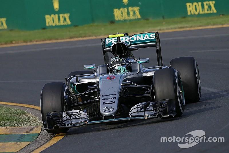 مرسيدس فكّرت بسحب روزبرغ من السباق بسبب ارتفاع حرارة فكّ المكابح