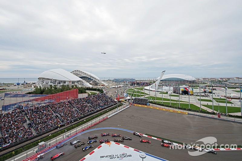 Tijdschema Formule 1 Grand Prix van Rusland