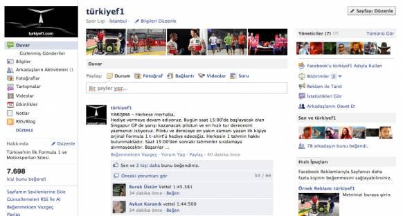 TurkiyeF1 Facebook yarışmasına katılın, kazanın