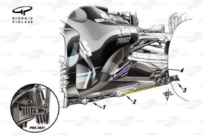 Formel-1-Technik: Wie Mercedes den verlorenen Abtrieb zurückholen möchte