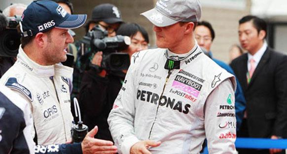 Schumi Barrichello'nun yarışmasını umuyor
