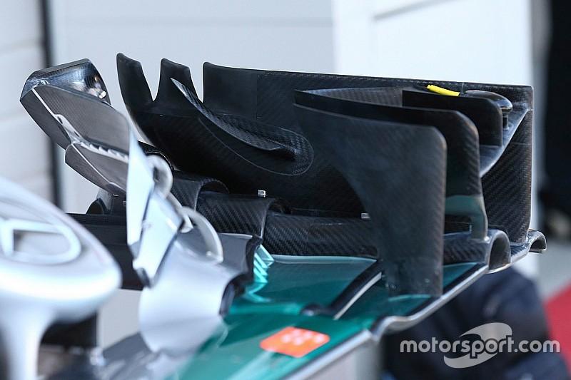 Breve análisis técnico: Toma de refrigeración de frenos del Mercedes W07