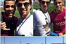 Checo Pérez visitó a Dani Alves y Neymar