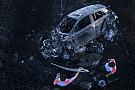 Foto's en video: 'Klein foutje' leidde tot WRC-vuurzee