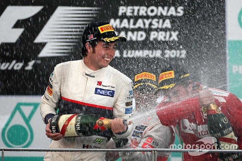 Los seis podios de Sergio Pérez