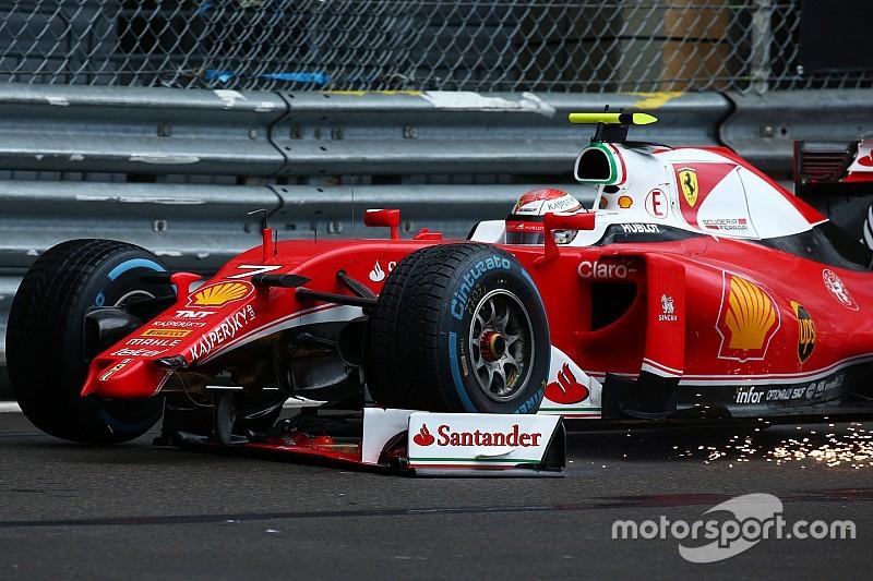 Geen straf voor Kimi Raikkonen na voorvleugelincident