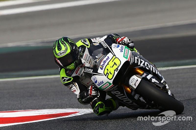 Zampata di Cal Crutchlow nei test della MotoGP a Barcellona