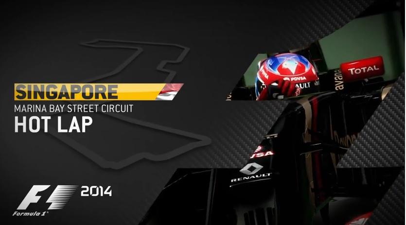 F1 2014: Új videó a játékról – gyors kör Grosjeannal és a Lotusszal Szingapúrban