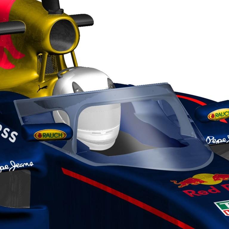 Hivatalos: A Red Bull pénteken pályára viszi a félig fedett pilótafülkével felszerelt autóját Szocsiban