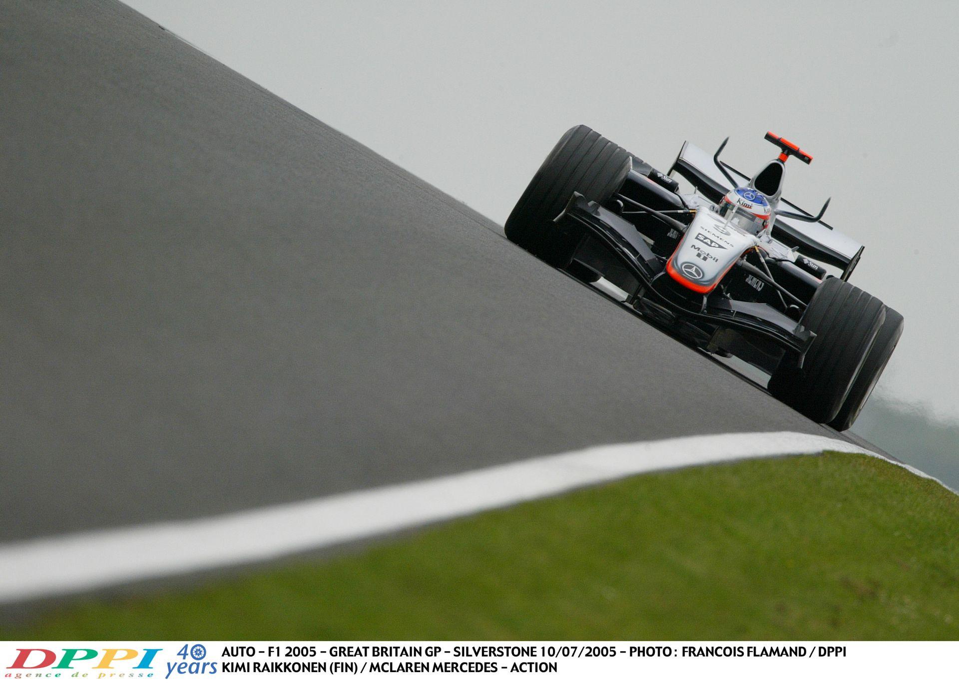 Egy fantasztikus kör Raikkönentől a McLarennel: Silverstone, 2005