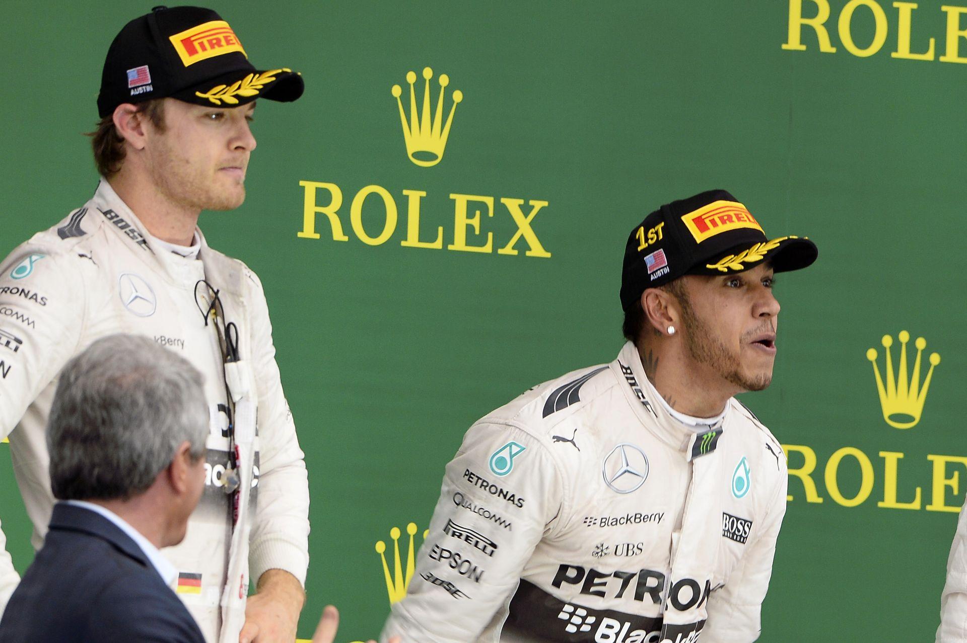 """Rosberg faarccal """"ünnepelte"""" a második helyét Austinban"""
