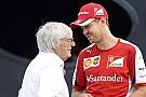 Ecclestone: Előbb vagy utóbb Vettel világbajnok lesz a Ferrarival! Ez nem kérdés!