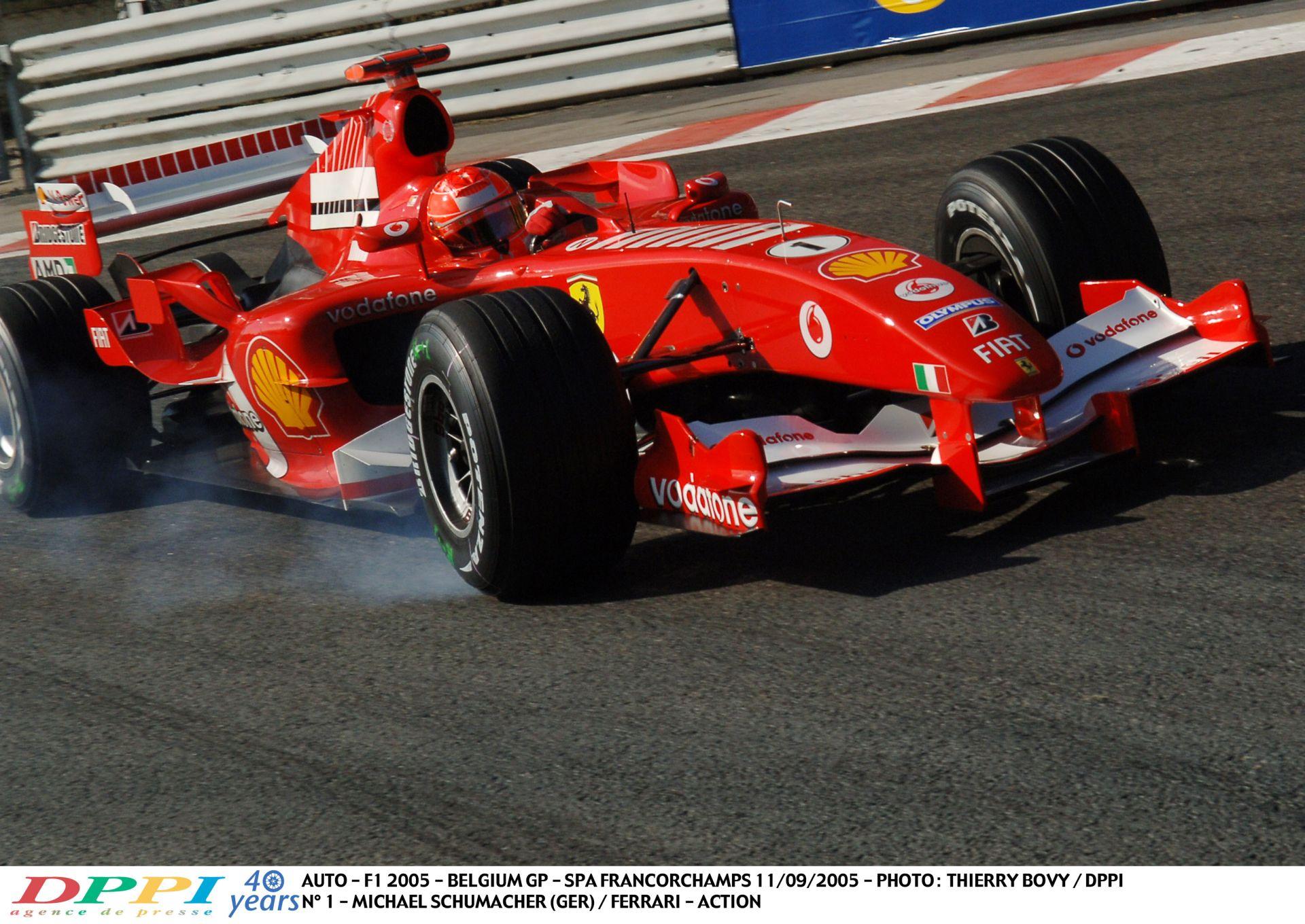 Eszméletlen tempóban Michael Schumacher Spa-Francorchamps-ban a Ferrarival