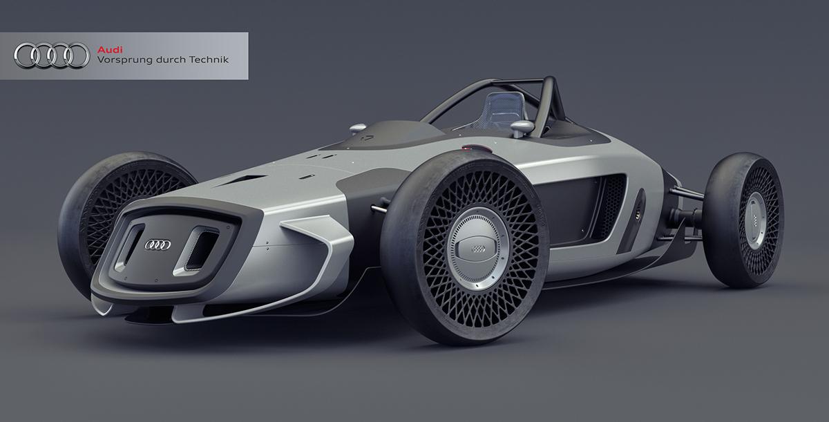 Így kell feltámasztani a legendás versenygépeket: látványos terveken az Auto Union Design 2017