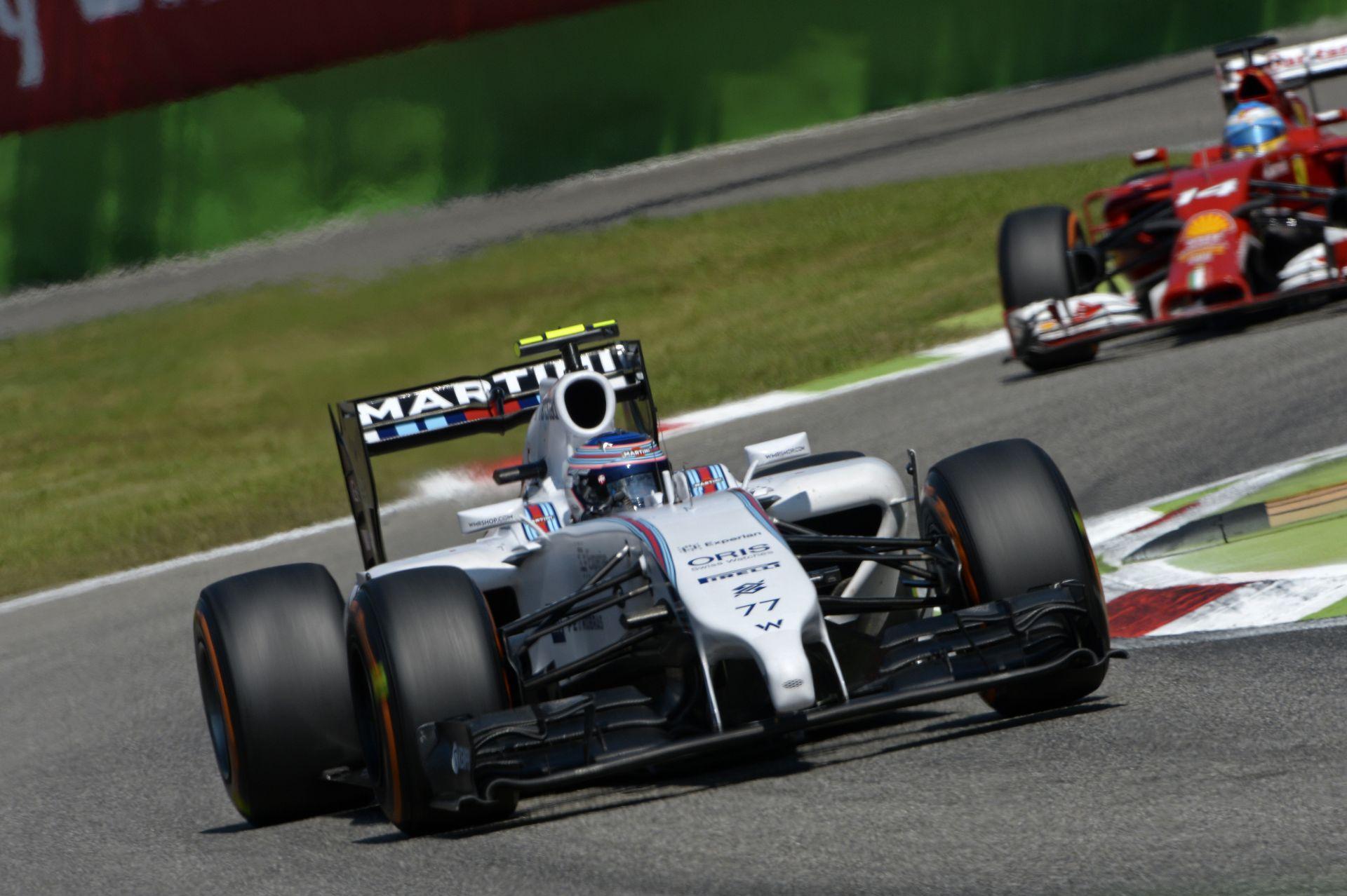 Így vezet a Williams finn csillaga, Valtteri Bottas Monzában