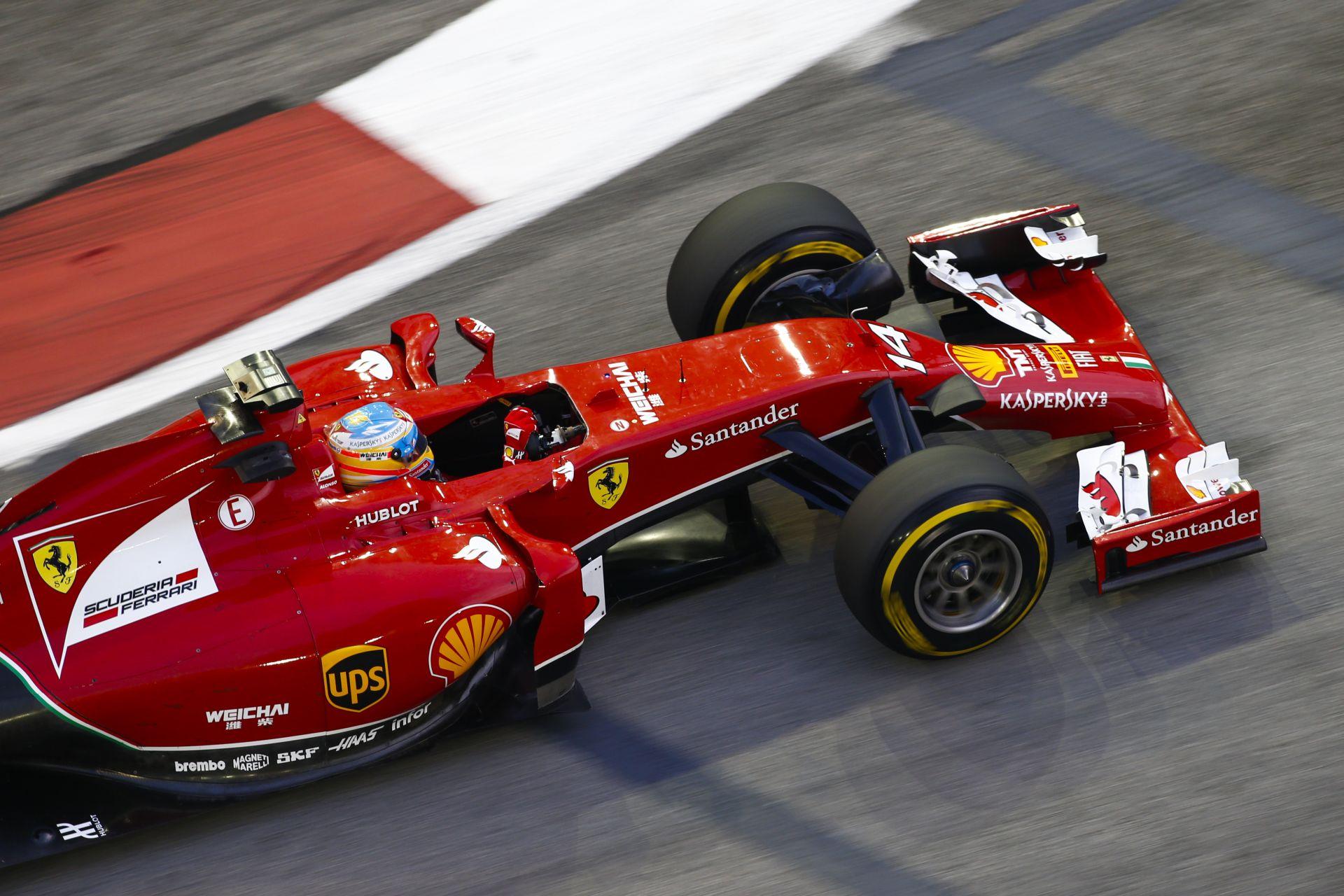 Alonso nyerte a harmadik szabadedzést az időmérő előtt Szingapúrban! Raikkönen csak 9. lett a másik Ferrarival