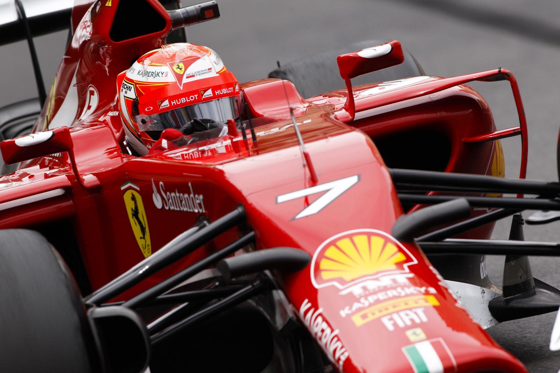 Raikkönen nem ugyanazzal az autóval versenyzett, mint Alonso