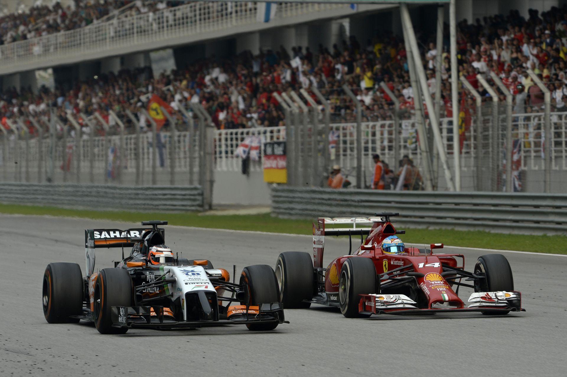 Maláj Nagydíj 2014: Alonso előzése Hülkenberg ellen