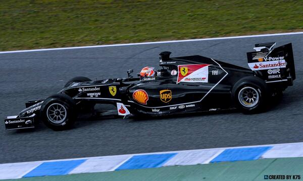 Így mutatna feketében Raikkönen és Alonso új Ferrarija, az F14-T