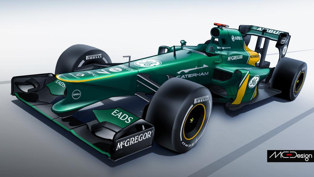 Így nézhet ki a Caterham 2014-es F1-es autója: Kobayashi új gépe?