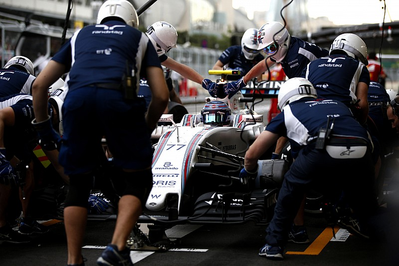Williams iguala el récord de una parada de pits de F1