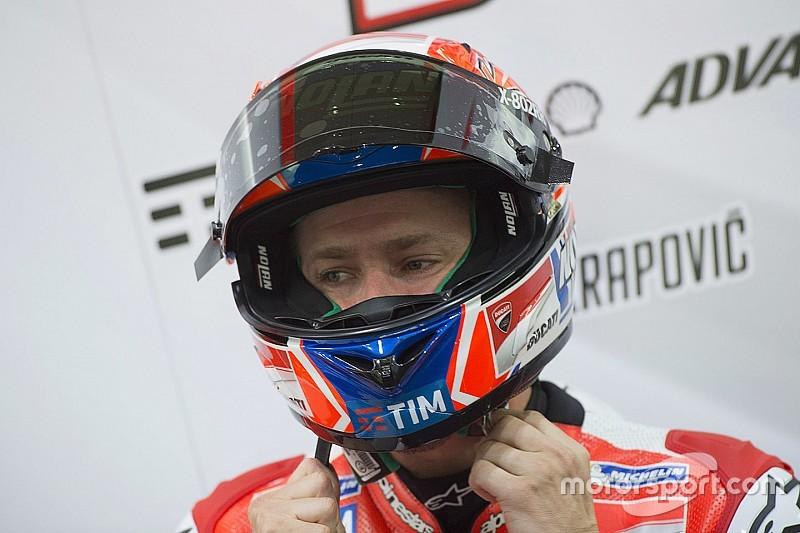Stoner esausto alla fine del test di Misano sulla Ducati