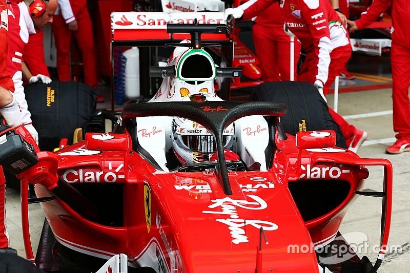 L'Halo 2 ha debuttato sulla Ferrari nelle prime libere a Silverstone