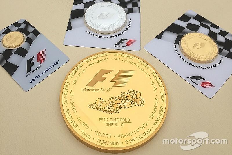 La F1 lanza monedas de oro con valor de 40 mil dólares