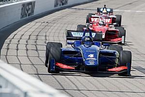 Indy Lights Gara Felix Serrales centra la seconda vittoria stagionale in Iowa