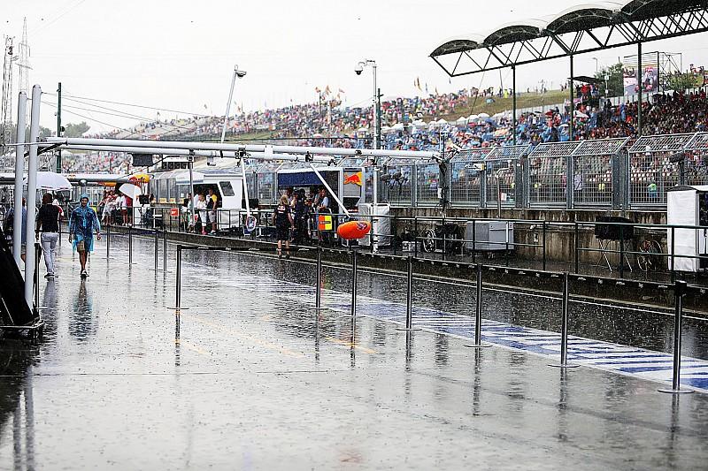 Start kwalificatie Grand Prix van Hongarije uitgesteld vanwege regen