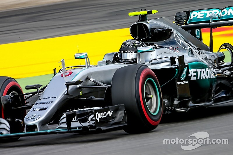 德国大奖赛FP2:梅赛德斯优势明显,罗斯伯格再度拿下最快