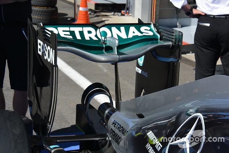 Технический брифинг: заднее антикрыло Mercedes