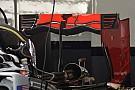 La Haas con l'ala posteriore ad...