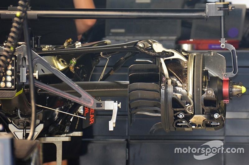 Breve análisis técnico: suspensión trasera del Mercedes W07