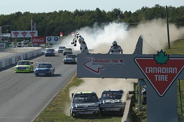 NASCAR Truck Résumé de course Une arrivée musclée et une confrontation en série NASCAR Trucks
