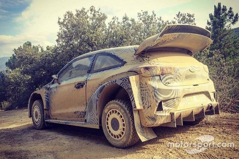 Hyundai: provato il nuovo diffusore sulla i20 WRC Plus 2017!