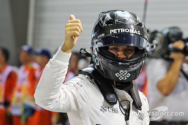 GP Singapura: Rosberg raih pole, Vettel bermasalah di kualifikasi