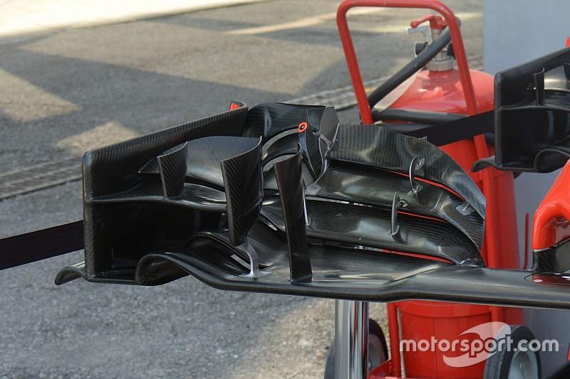 A Haas F1 Team újabb fejlesztése, egészen közelről: az első szárny Monzából