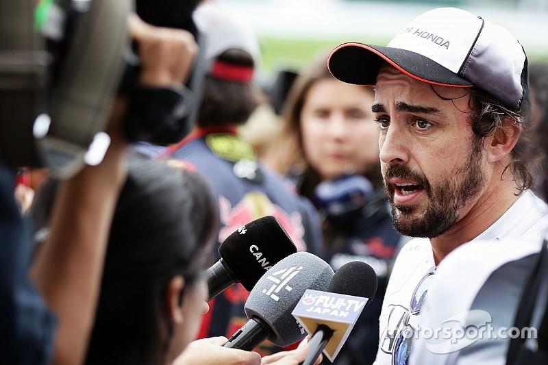Alonso regrette de ne pas pouvoir tester les pneus 2017
