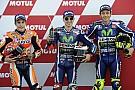 Die Startaufstellung zum MotoGP-Rennen in Valencia