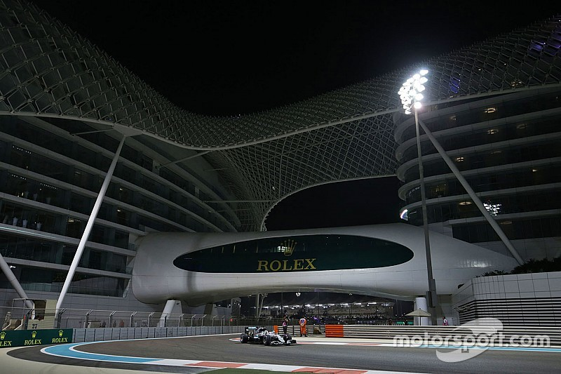 Grid start balapan GP Abu Dhabi 2016