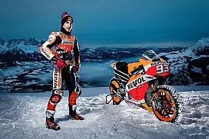 MotoGP Top List Galería: así fue la 'aventura' de Márquez en la nieve